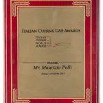 Premio Emirati Arabi Cucina Italiana